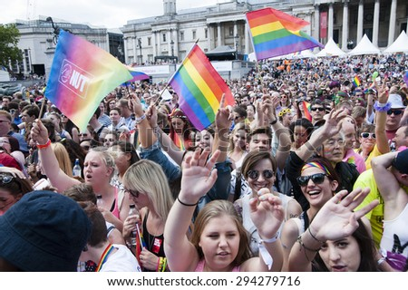 Pride in London Trafalgar Sq