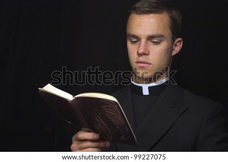 Priest with Prayer book