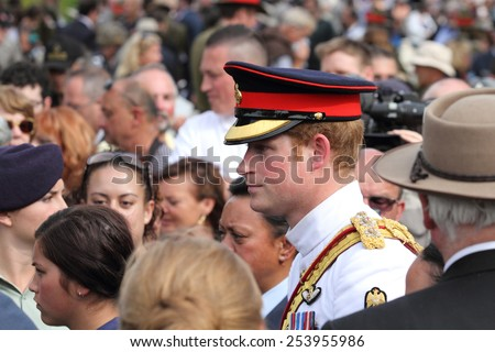 Prince Harry in the Commonwealth War Cemetery in Cassino during his visit to Italy on 18/05/2014 - stock photo