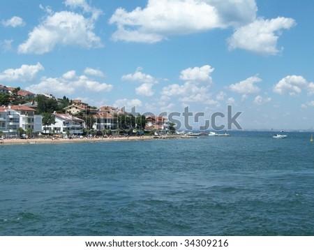 prince islands Marina Bay, turkey - stock photo