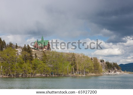 Prince of Wales hotel, Waterton National Park, Alberta, Canada - stock photo