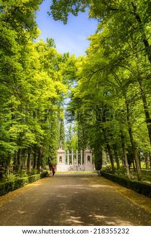 Prince's Garden in Aranjuez, Madrid, Spain. - stock photo