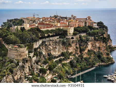 Prince's Palace of Monaco - stock photo