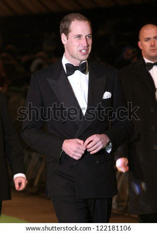 Prince William, Duke of Cambridge arriving for The hobbit Premiere, Odeon Leicester Square, London. 12/12/2012 Picture by: Alexandra Glen - stock photo
