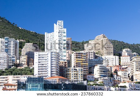 Principality of Monaco, on the French Riviera - stock photo