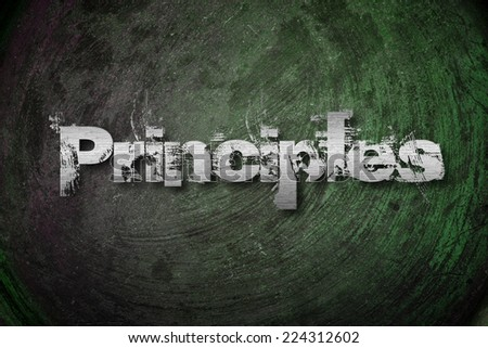 Principles Concept text on background - stock photo