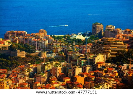 prinicipality of monaco on the french riviera france  cote d'azur - stock photo
