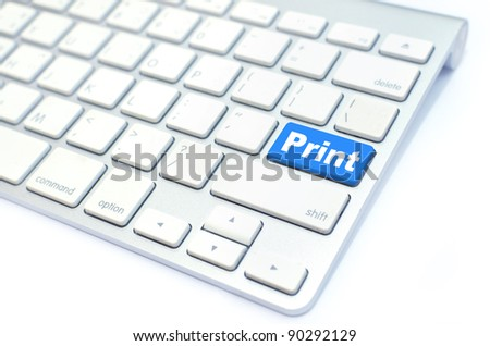Print  button computer key