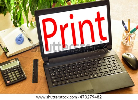 Print. Concetp office