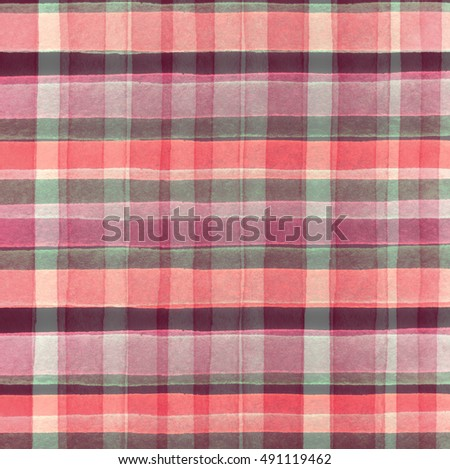 Print Fabric. Plaid Material. Abstract Hand Drawing Pattern Fabric Texture  Square.