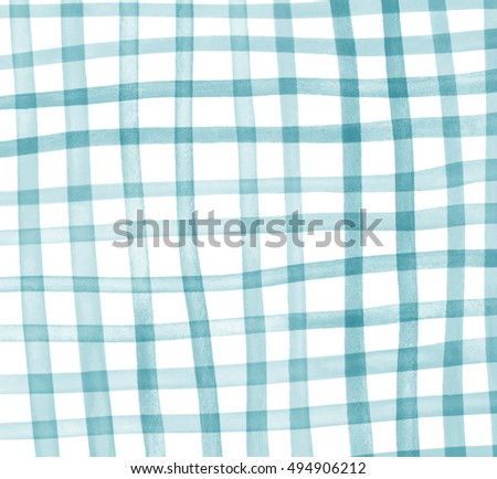 Print Fabric. Plaid Material. Abstract Hand Drawing Watercolor Image  Pattern Fabric Texture Square Soft