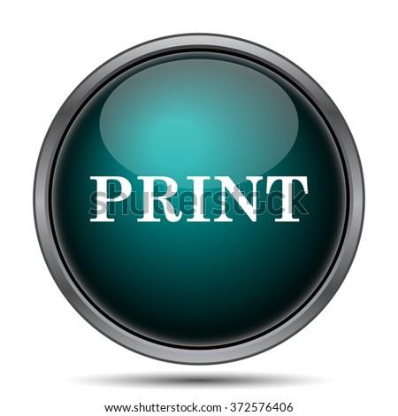 Print icon. Internet button on white background.  - stock photo
