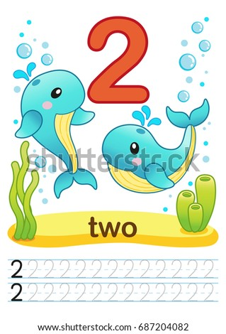 Printable Worksheet Kindergarten Preschool We Train Stock ...