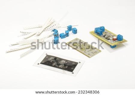 Printed circuit board PCB design - stock photo