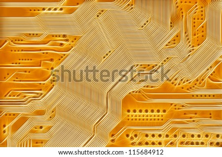 printed circuit - motherboard - technology abstract