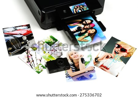 printed photos - stock photo