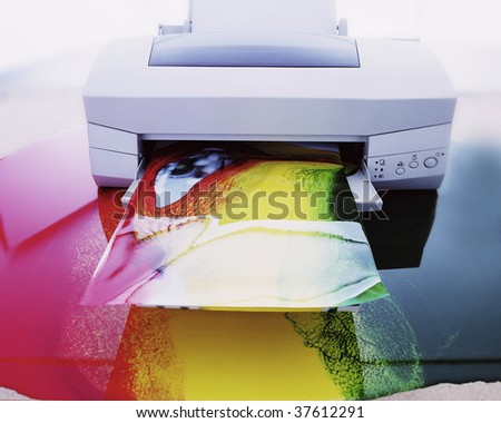 printer ink - stock photo