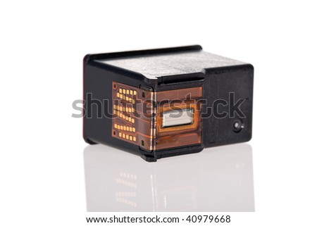 Printer Inkjet cartridge isolated on a white background