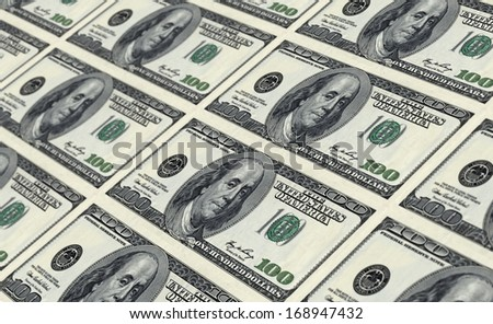 printing banknotes repeating structure  - stock photo