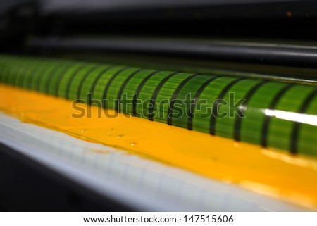 printing press - stock photo