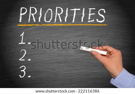 Priorities - Checklist - stock photo