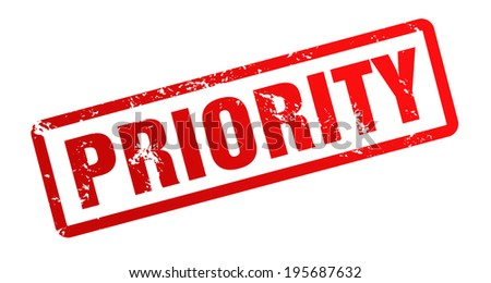 priority - stock photo