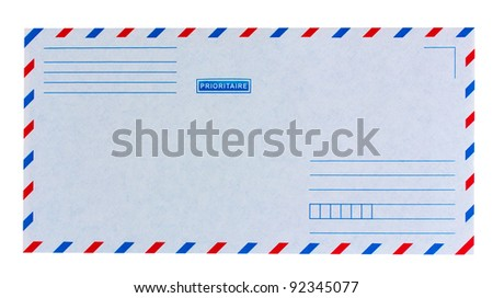 priority  mail envelope isolated on white background