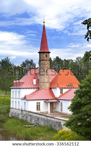Priory Palace in Gatchina, Russia (built in 1799) - stock photo