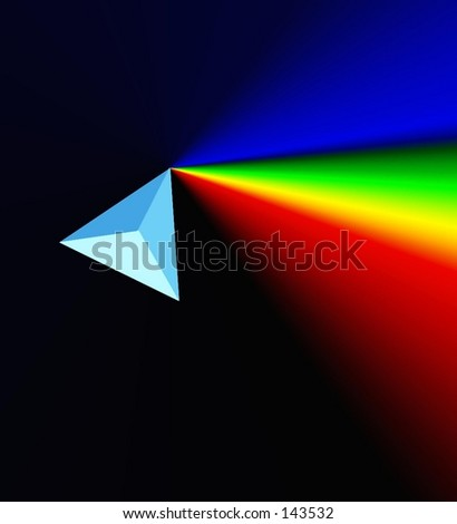 prism and rainbow - stock photo