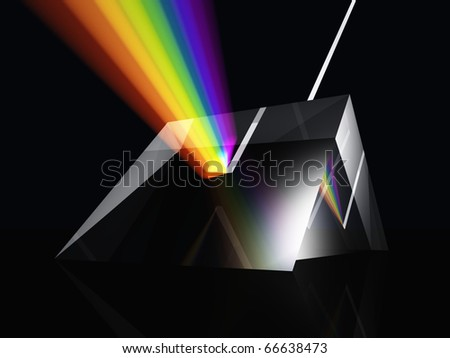 Prism spectrum - stock photo