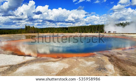 Prismatic Spring Basin Yellowstone National Park