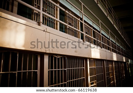 Prison Cell Block - stock photo