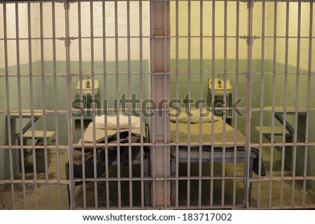 prison cells - stock photo