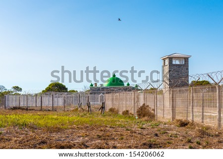 Prison on the Robben Island, South Africa, where the President of South Africa Nelson Mandela was imprisoned. UNESCO World heritage - stock photo