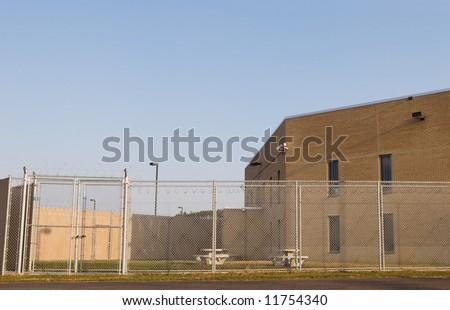 Prison Yard - stock photo