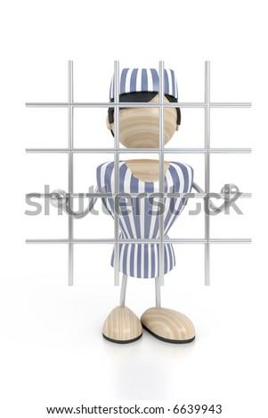 prisoner is in clink - stock photo