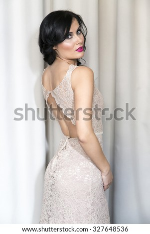 Pritty young bride - stock photo