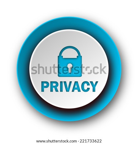 privacy blue modern web icon on white background