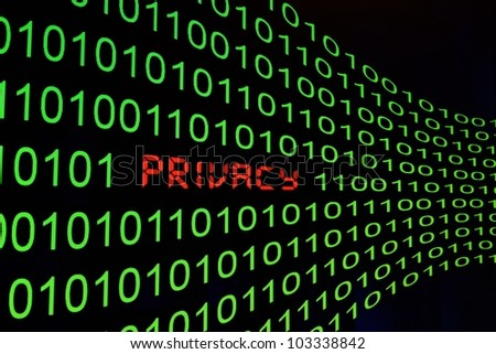 Privacy cocnept - stock photo