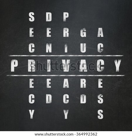 Privacy concept: Privacy in Crossword Puzzle - stock photo