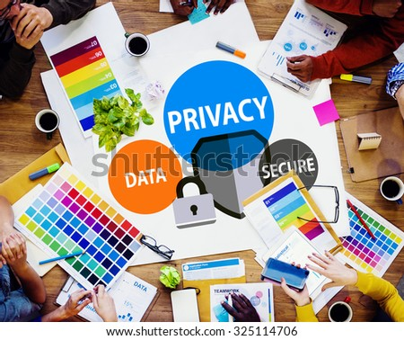 Privacy Data Secure Protection Safety Concept - stock photo
