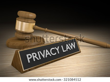Privacy law regulation and legal protection concept - stock photo