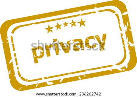privacy stamp isolated on white background - stock photo