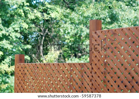 Privacy wooden screen or fence - stock photo