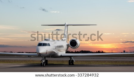 Private jet at the airport  - stock photo