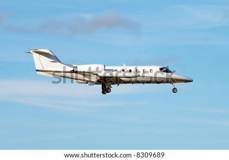 Private jet for luxury travel Learjet 35 - stock photo