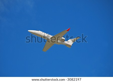 Private luxury jet - stock photo