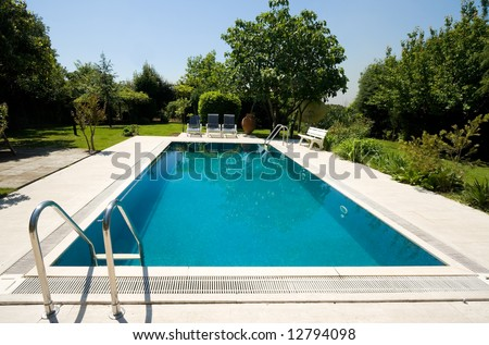 Private pool of a country house