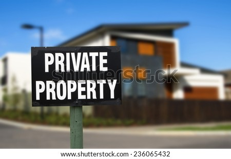 private property. real estate concept - stock photo