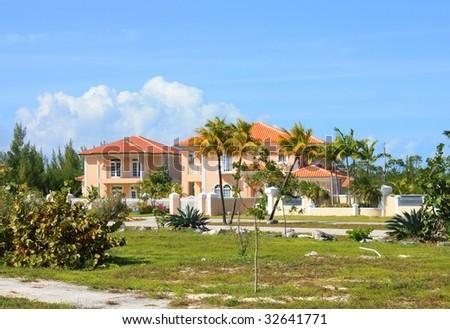 Private villa, Bahamas - stock photo